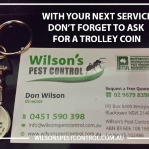 Pest Control Blacktown - Trolley Coin