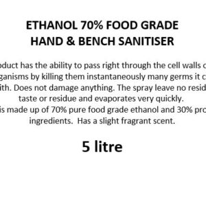70% Ethanol Sanitiser 5 litre